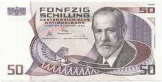 Sigmund Freud looking a lot like Obi Wan Kenobi on 50 Austrian schilling banknote Sigmund Freud, History Of Germany, Public Administration, Old Money, Good Old Times, Psychology Facts, Obi Wan, Austria, The Past