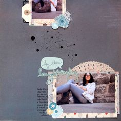 Sketch Abril Biscuit Project, kelly Purkey, scrapbooking, Mon Ami, Basic Grey