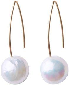 ORA Pearls 14kt Gold White Pearl Tear Drop Earrings 7sVep
