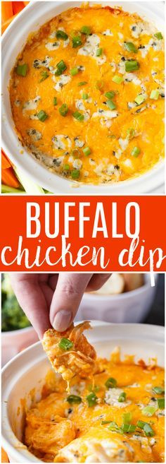 Buffalo Chicken Dip - If you are a fan of Buffalo Wings, you are going to LOVE this easy dip recipe! Each bite is a flavour explosion. #ad