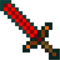 Minecraft Papercraft Redstone Sword, Life Size