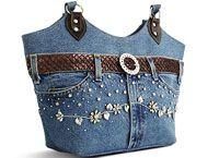Recycle Upcycle denim Purse Sewing DIY +++ RECICLAR REUTILIZAR VIEJO PANTALON TEJANO JEANS BOLSA BOLSO