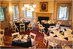 Duportail House Reception Set-up.   Jen + Steven // Married at Duportail House