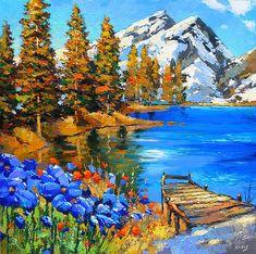 Original fineart Landscape contemporary wall art by spirosart
