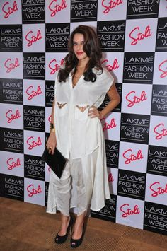 Neha Dhupia at the Stoli Lounge at Lakme Fashion Week day four #Style #Bollywood #Fashion #Beauty #LFW2014
