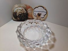 Vintage Czech Bohemia Crystal Ashtray *NO RESERVE*