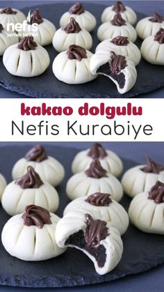 Kakao Dolgulu Kurabiye - Nefis Yemek Tarifleri Cocoa Filled Cookies - Yummy Recipes, the Cookies Fourrés, Cocoa Cookies, Filled Cookies, Bread Recipes, Cookie Recipes, Dessert Recipes, Yummy Recipes, Wine Country Gift Baskets, Lemon Cheesecake