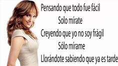 Jennifer Lopez Mirate Lyrics/Letra(Audio)