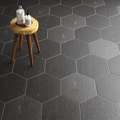 """Rama 14"""" x 16"""" Porcelain Wood look Wall & Floor Tile Bathroom Flooring, Kitchen Flooring, Entryway Flooring, Wall And Floor Tiles, Wall Tiles, Wood Look Tile, Hexagon Tiles, Mosaic Wall, Marble Mosaic"""