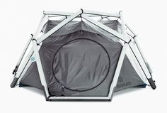 I'm starting to see more and more of these inflatable tent concepts.  Given the wear and tear I see on materials like aluminum and carbon-fiber supported tents, not to mention the physics of cold/hot air volume, I'm not completely confident on these designs for backcountry use, but I am excited about people and companies willing to experiment with new designs and technologies.