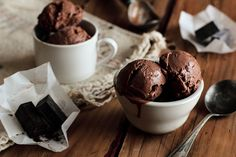 Chocolate (Dairy-Free) Ice Cream by pastryaffair