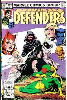 Sandy Plunkett - Cover to Defenders # 123