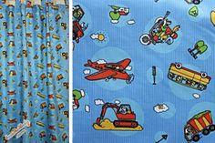 Kinderzimmer Gardine 'Fahrzeuge' nach Wunschmass