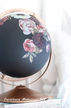 DIY Painted Globe & Furniture Transfers New Simple DIY Furniture Makeover and Transformation Related posts: great painted furniture Globe Furniture, Floral Furniture, Painted Furniture, Refinished Furniture, Furniture Makeover, Diy Furniture, Furniture Design, Decoupage Furniture, Furniture Outlet