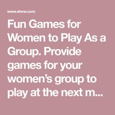 Icebreaker games help ease tension and generate conversation, creating a relaxed environment for mingling and getting to know new people. Activity Games, Fun Games, Games To Play, Activities, Ice Breaker Games For Adults, Home Party Games, Women Laughing, Group Games, Ice Breakers