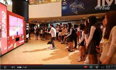 Play a Dance Dance Revolution style game with the machine for free coke. That's one way to draw a crowd!