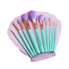 10pcs Spectrum Makeup Brushes Set Powder Brush Make up Tools with Shell Case #Unbranded