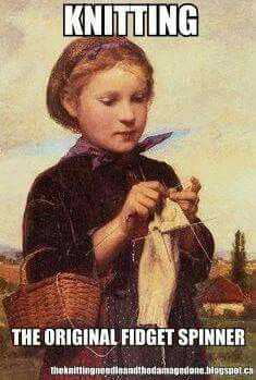 """Knitting Girl by Albert Samuel Anker – Swiss painter and illustrator who has been called the """"national painter"""" of Switzerland because of his enduringly popular depictions of Swiss village life. Knitting Quotes, Knitting Humor, Crochet Humor, Knitting Projects, Knit Crochet, Knitting Socks, Knitting Patterns, Knitting Club, Illustrations"""