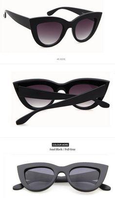 fb5e24fe412 Rose Gold Cat Eye Sunglasses For Women Pink Mirror Shades Female Sun Glasses  Black White Coating