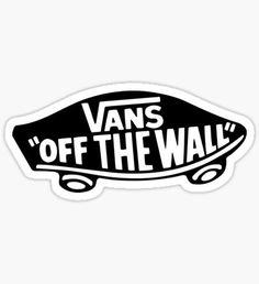 Black Vans of The Wall Sticker