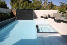 white pool with black waterline tile - Google Search