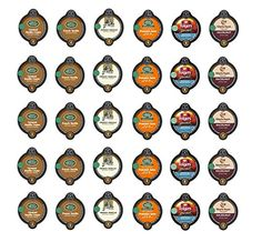 30 Count - Variety Flavored Coffee Vue-Cups for Keurig Vue Brewers - Pumpkin, French Vanilla, Caramel Vanilla, Gloria Hazelnut, Folgers Biscotti and Van Houtte (6 flavors, 5 vue cups each)