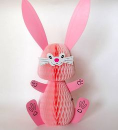 Vintage Honeycomb Easter Bunny Decoration Rabbit by teresatudor, $7.50