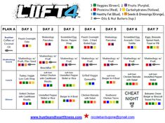 B4 LIIFT 4 Meal Plan with Recipes & Tips for success | Fix Friendly Recipes And Tips | United States | Hustle & Heart Fitness