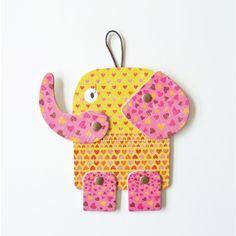 Image of Dante elephant, articulated cardboard animal