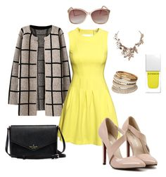 Pop of Yellow by ohsosara64 on Polyvore featuring polyvore, fashion, style, H&M, Chicnova Fashion, Miss Selfridge, Humble Chic, Givenchy and clothing