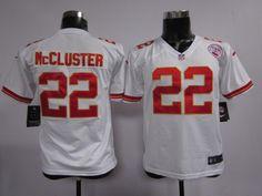 Kids Nike NFL Kansas City Chiefs #22 Dexter McCluster White Jerseys