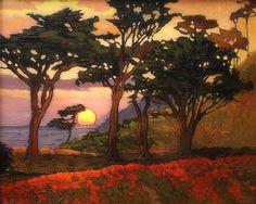 """Far From The Madding Crowd"" by Jan Schmuckal | Oil | 8"" x 10"" | Coastal Landscape | Poppies"