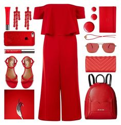 """""""RED"""" by foundlostme ❤ liked on Polyvore featuring New Look, Revel, Love Moschino, Ray-Ban, Parmigiani, Topshop, Ruifier, Simone Rocha, Burberry and monochrome"""