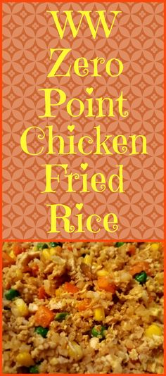 Chicken Fried Rice Chicken Fried Rice,Weight watchers Enjoy this chicken fried rice recipe using riced cauliflower instead of the traditional rice. It is zero points on the Weight Watchers Freestyle program! Weight Watchers Diet, Weight Watchers Smart Points, Weight Watcher Dinners, Weight Watchers Chicken, Weight Watchers Program, Weight Watcher Smoothies, Skinny Recipes, Ww Recipes, Cooking Recipes