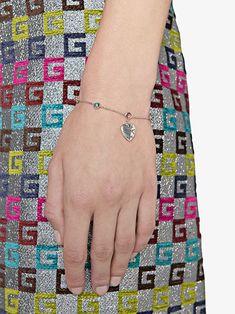 66d27d5ce Gucci Blind For Love Bracelet In Silver - Farfetch