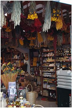 Shop at Uzes Market, Provence, France Uzes France, Provence France, Metaphysical Store, Witch Shop, Future Shop, Haute Provence, Old Country Stores, Ville France, French Countryside