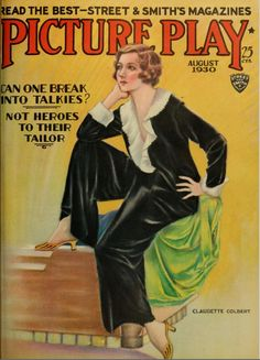 "Vintage Movie Magazine  - Claudette Colbert ~ "" Picture Play"" magazine."
