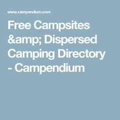 Free Campsites & Dispersed Camping Directory - Campendium