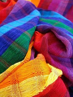 Bright and colorful textiles.