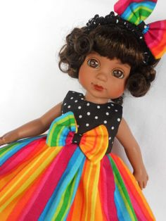 RAINBOW-SUMMER-Doll-Dress-For-10-Tonner-Ann-Estelle-Patsy-YoSd