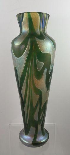 Kralik Bohemian Jugendstil Art Nouveau Glass Vase Iridescent Loetz Era | eBay