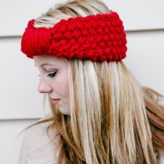 Cherry Knitted Headband READY TO SHIP  This headband is so soft and comfy