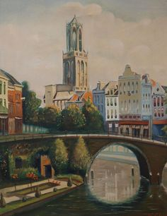 Stadsgezicht van Utrecht, Arthur Goldsteen (1908-1985).