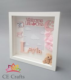 Personalised Baby Frame Letter Frame Baby Name Baby Gift Baby Boys, Baby Boy Gifts, Baby Shower Gifts, Framed Letters, Baby Letters, Baby Picture Frames, Baby Frame, Box Frame Art, Box Frames