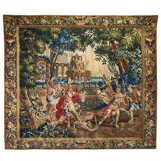 Flemish Mythological Tapestry of Perseus with the Head of Medusa 30k 107.9 in.Hx125.2 in.W | From a unique collection of antique and modern tapestries at https://www.1stdibs.com/furniture/wall-decorations/tapestry/