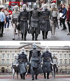 White Walkers in London, Game of Thrones. White Walkers in London, Game of Thrones. Game Of Thrones Pictures, Game Of Thrones Meme, Game Of Thrones Poster, Game Of Thrones Cosplay, Game Of Thrones Cast, Winter Is Here, Winter Is Coming, Game Of Trone, King In The North