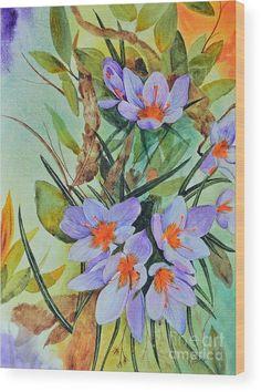 #woodprint #crocus #floral prints