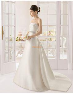 A-line Sans manches Zip Robes de mariée 2015