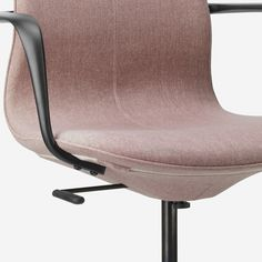 LÅNGFJÄLL Conference chair with armrests, Gunnared light brown-pink, Width: 26 Find it here! Ikea Office Chair, Best Office Chair, Black Office Chair, Ergonomic Office Chair, Upholstered Chairs, Chair Cushions, Swivel Chair, Sun Chair
