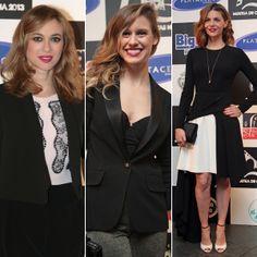 Marta Hazas, Manuela Vellés y Manuela Velasco en el estreno de 'Galerías Velvet' en Noia, Galicia